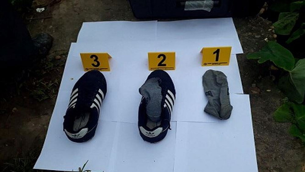 Phát hiện đôi giày của nghi phạm giết 2 vợ chồng ở Hưng Yên